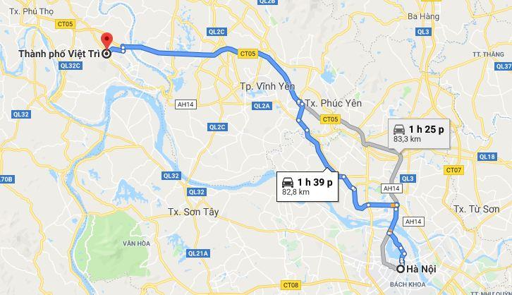 Taxi Từ Hà Nội đi Phú Thọ giá rẻ, trọn gói